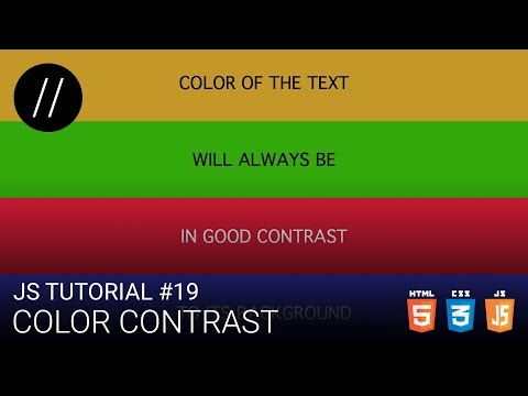 JS Tutorial #19 — Color Contrast [UP/TO/DATE] thumbnail