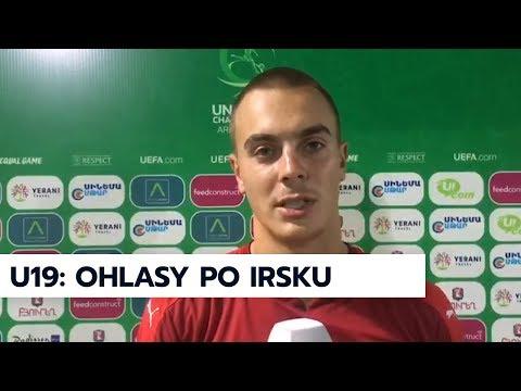 U19   Matěj Kovář a Filip Kaloč po prohře s Irskem na ME