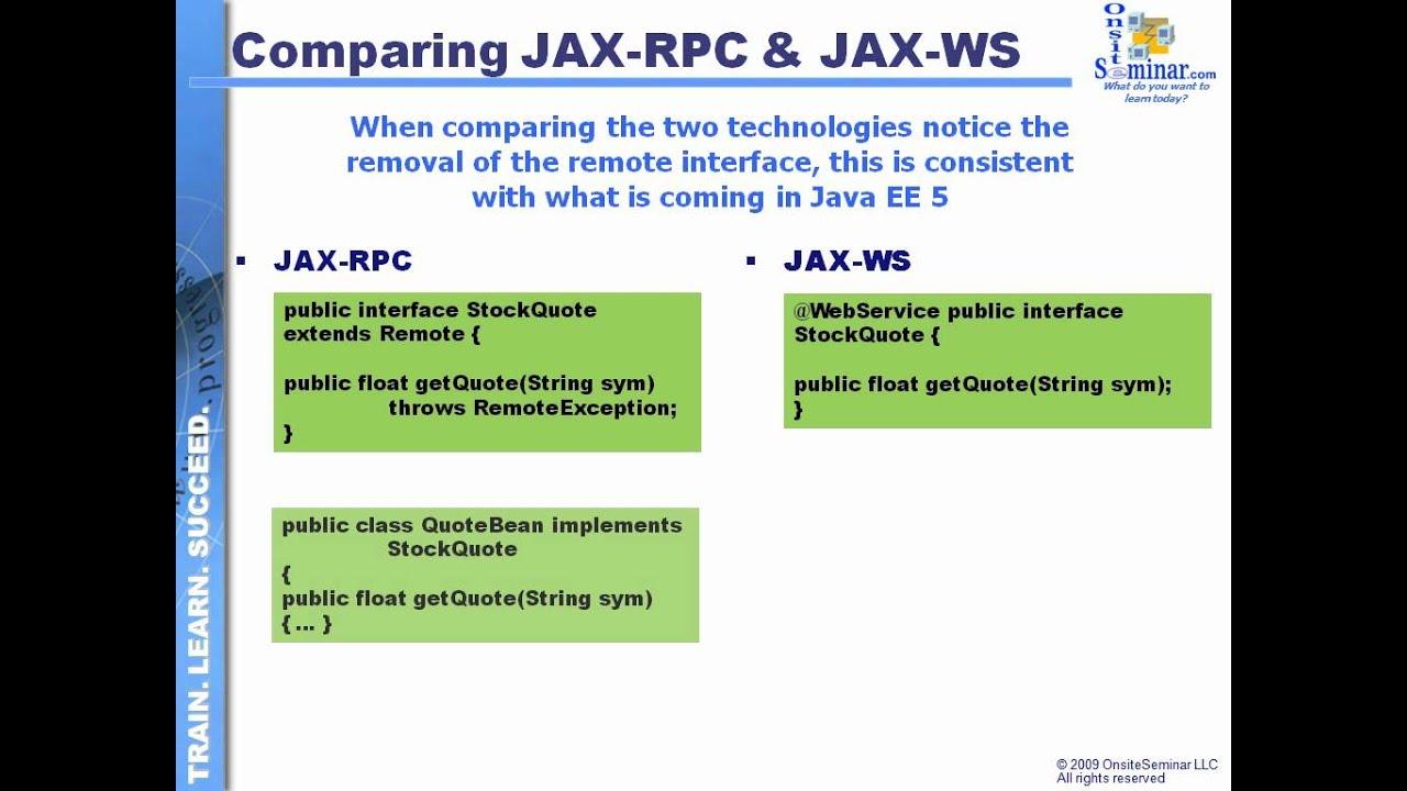 Module 132 Jaxrpc Vs Jaxws Youtube