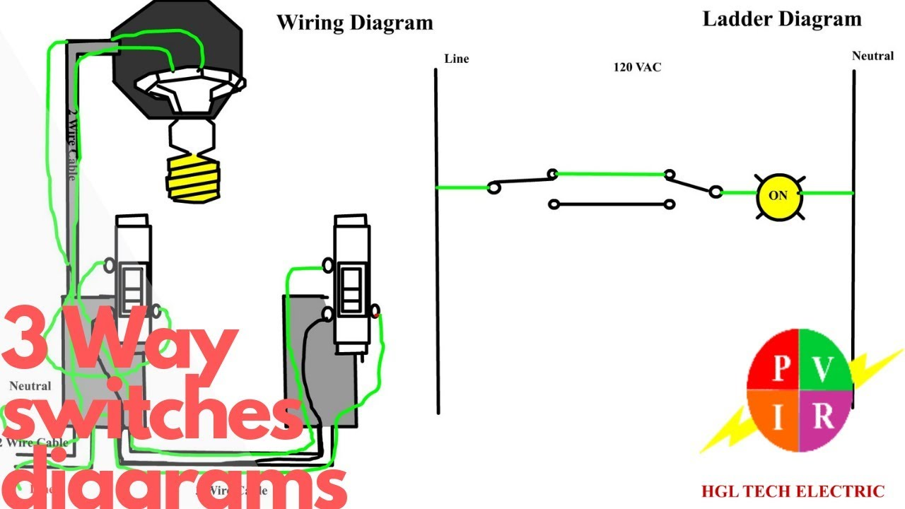 Three Way Switch Wiring Diagram  What Is A 3 Way Switch