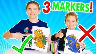 3 MARKER CHALLENGE !!! - Swan VS Néo : Pikachu, Zelda, Bowser...