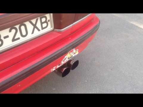Ролик Mazda 626 GD тюнинг выхлопа