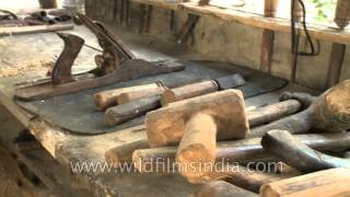 Hand Tools For Woodworking In Englan Village, Nagaland
