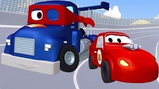 Carl el Super Camión y el Coche de Carreras en Auto City | Dibujos animados para niños