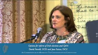 Options for reform of Irish elections and Q&A - Convention on the Constitution (8/6/13)