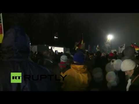 LIVE camera following PEGIDA's demo in Dresden