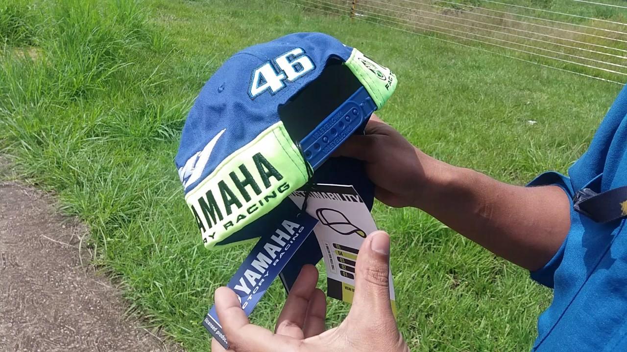 59d9efa06da Valentino Rossi VR46 M1 Yamaha Factory Racing Team Moto GP Cap - YouTube