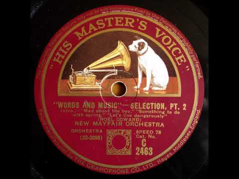 Words and Music selection 1932