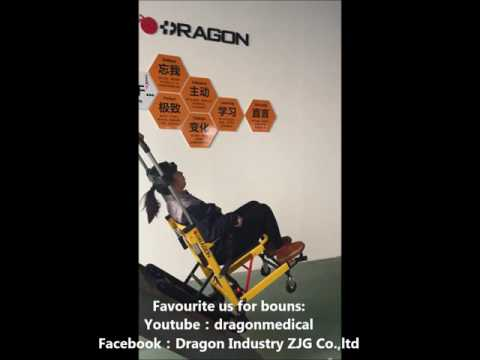 DW-ST003A how to operate New Dragon electric stair climbing wheelchair