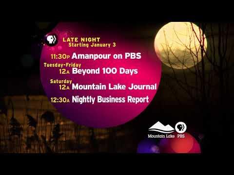 Mountain Lake PBS New Late Night Lineup Starting Jan.3, 2018