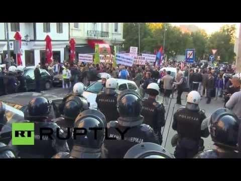 Serbia: Watch Scuffles At Belgrade Anti-Gay Pride Protest