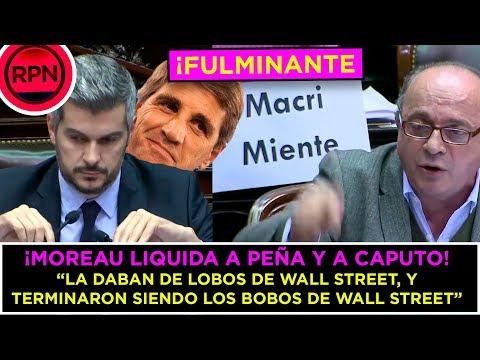 """Moreau liquidó a Caputo y Peña: """"La daban de lobos de WS, y terminaron siendo los bobos de WS"""""""