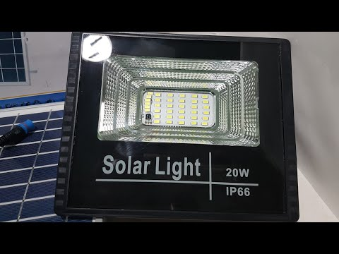 Kit Refletor, Holofote Solar - Solar ligth 42 leds 20w ip66