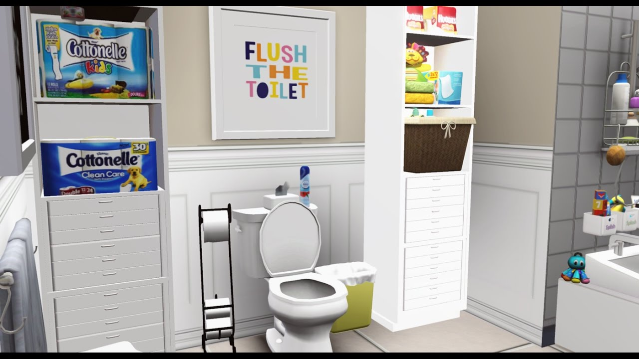 ♥The Anthony\'s new home Pt 2♥ - Kids Bathroom- (Sims 3 Speed ...