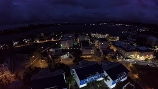 Aerial Night Footage of Mullet Bay Beach and Maho - St. Maarten  (Vlog #15)