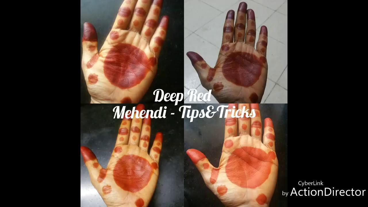 Traditional Dark Red Henna Mehendi Marudhani Mayilanji From Leaves