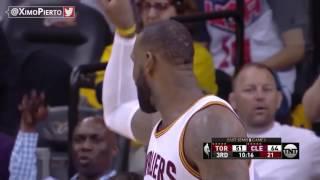 LeBron Blocks DeMar DeRozan   Cavs vs Raptors   Game 1