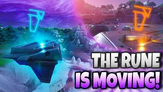 *LIVE EVENT* FIRST RUNE IS MOVING! RUIN IS THE END!? | Fortnite Battle Royale Season 8 Secrets