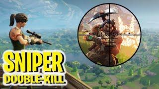 SNIPER DOUBLE-KILL VÝHRA! - Fortnite Battle Royale!