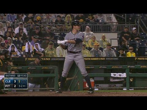 CLE@PIT: Bauer uses his teammates batting stances
