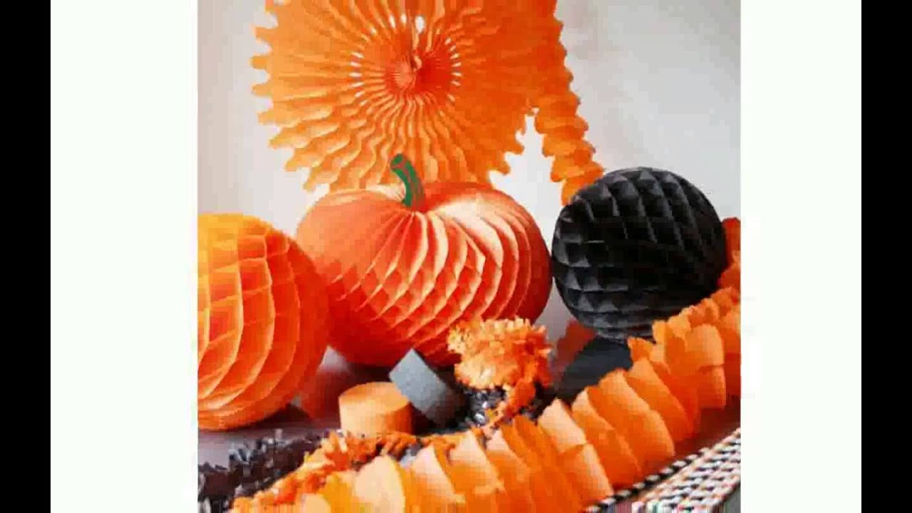 paper halloween decorations youtube - Halloween Decorations Paper