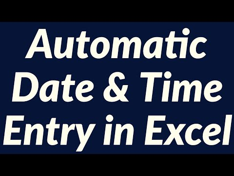 Automatic date & time entry using Excel VBA