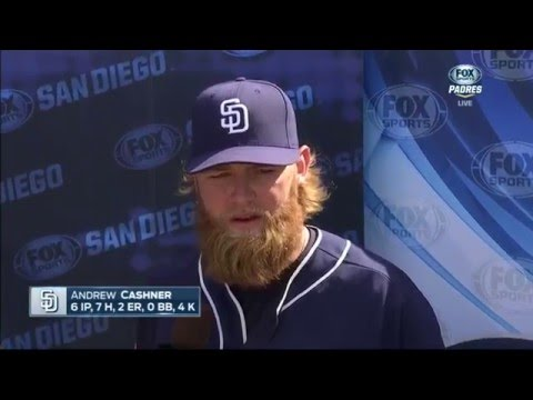 Andrew Cashner talks Spring Training, hitting and his beard