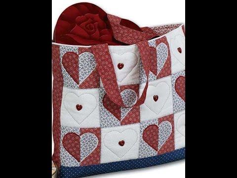 Patrones de bolsos patchwork youtube - Patchwork en casa patrones ...