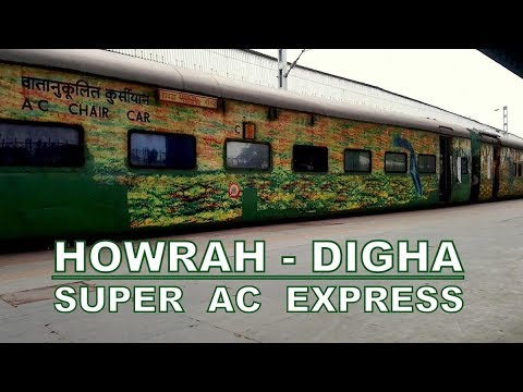 HOWRAH TO DIGHA DURANTO : ON BOARD 12847/48 SUPER AC EXPRESS ENTERING AT HOWRAH BY Journal Aakash