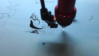 Mini Laser Cutting Machine (the Paper Templated Of Christmas Designs Cutting)