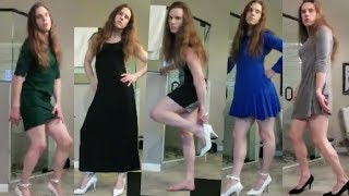 Crossdresser fashion show / 11 different dresses