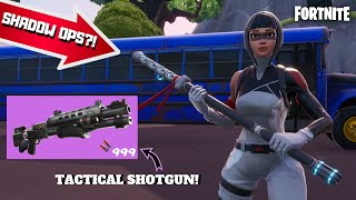 "White Shadow Ops Skin & *NEW* ""Tactical Shotgun"" Gameplay! (Fortnite Season 9)"
