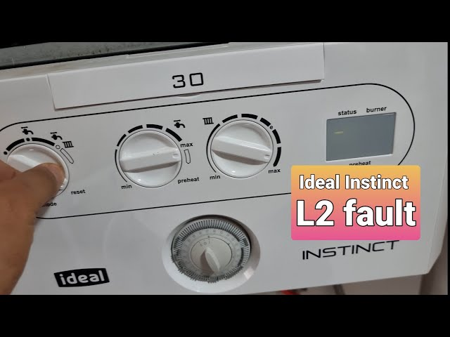 Ideal Instinct L2 fault no ignition boiler diagnosis part change Birmingham UK