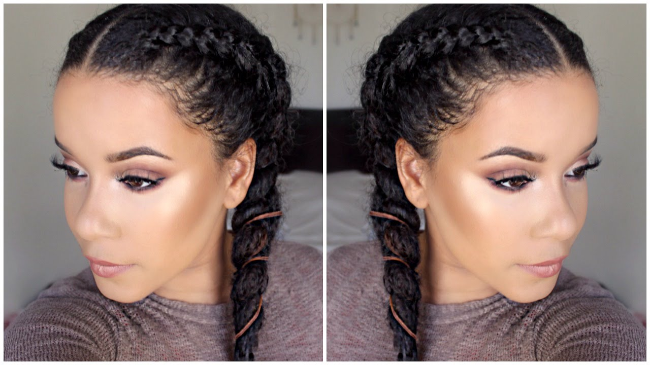 How To Cornrow / Dutch Braid Your Hair! (Braiding for beginners)