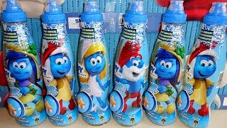 2017 Smurfs The Lost Village 24 Surprise Eggs in Drink 3D Keychain to Collect in Europe