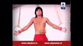 Samrat Ashoka does gymnastic