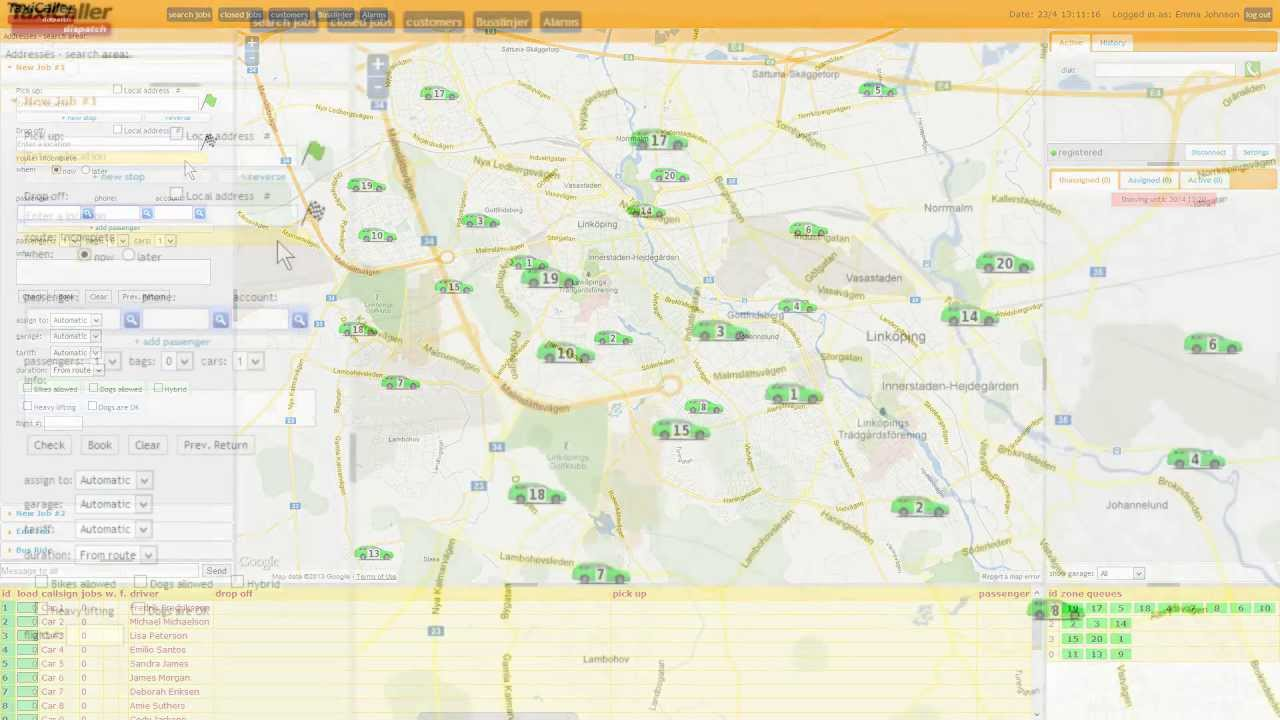 Taxi Dispatch system - Booking a job