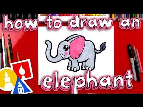 How To Draw A Cartoon Elephant
