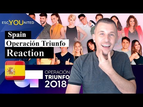 Operación Triunfo Songs Reaction (Spain Eurovision 2019)