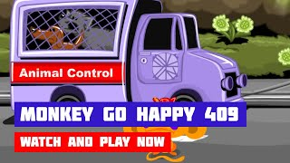 Monkey GO Happy: Stage 409 — Dog Rescue & Earthquake · Game · Walkthrough
