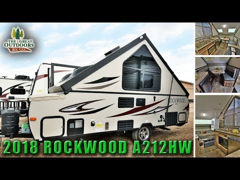 New 2018 Pop Up Hard Sided RV ROCKWOOD A212HW Fold Out A frame Camper Colorado