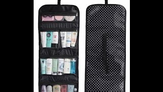 WODISON Transparent Clear Hanging Travel Toiletry Cosmetic Organizer Storage Bag