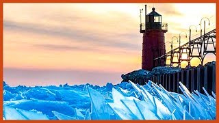 Frozen Lake Michigan Shatters Into Millions Of Pieces