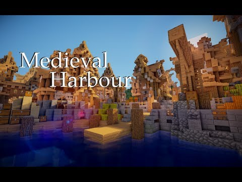 Minecraft How to build a Medieval Harbour / HTSYMC #1