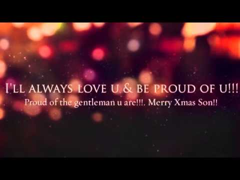 I love You Son Merry Christmas!!! - YouTube
