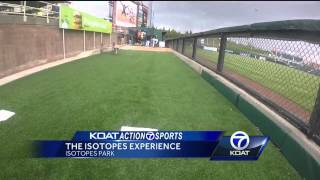VIDEO: Catch a 90 mph fastball at Isotopes Park
