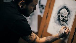 Эскизы Татуировок | Слава Шабара - Графика - Shawn Crahan (Slipknot)