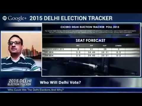 On #IndiaHangOut 2015 Delhi Election Tracker In Association With C Voter Streamed live on Jan 15, 20
