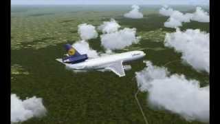 Lufthansa flight 50, Geneva to Genoa - FS2004
