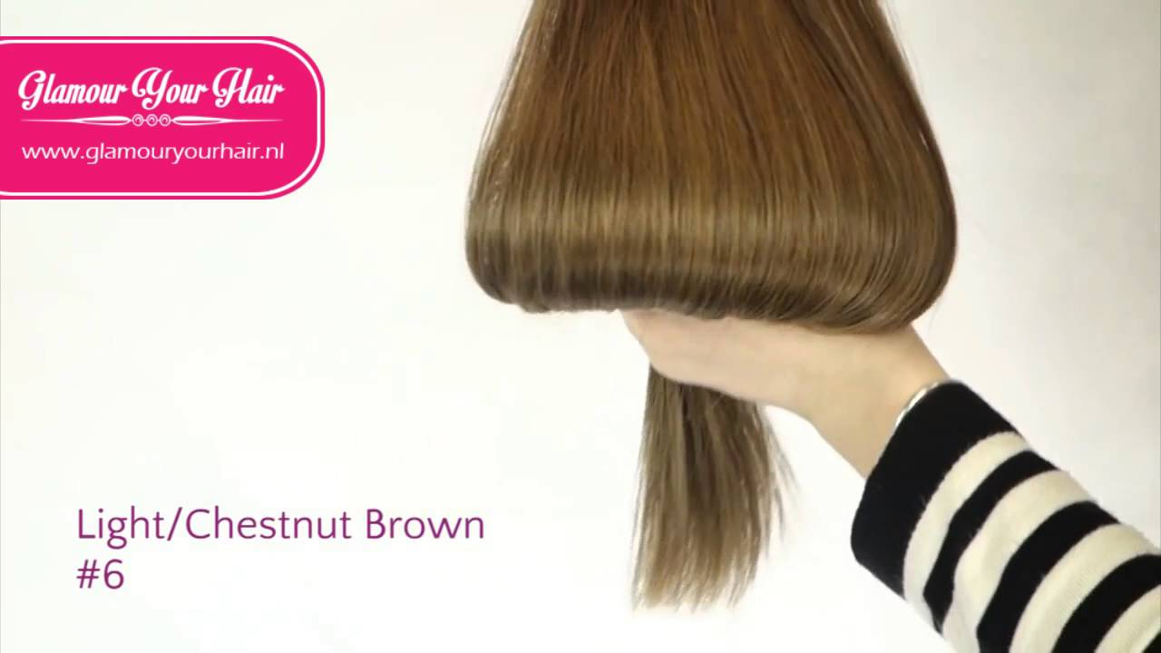 Hairextensions Colour Light Brown Chestnut Brown 6 By